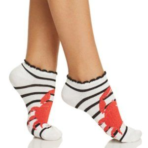 KATE SPADE black and white crab ankle socks